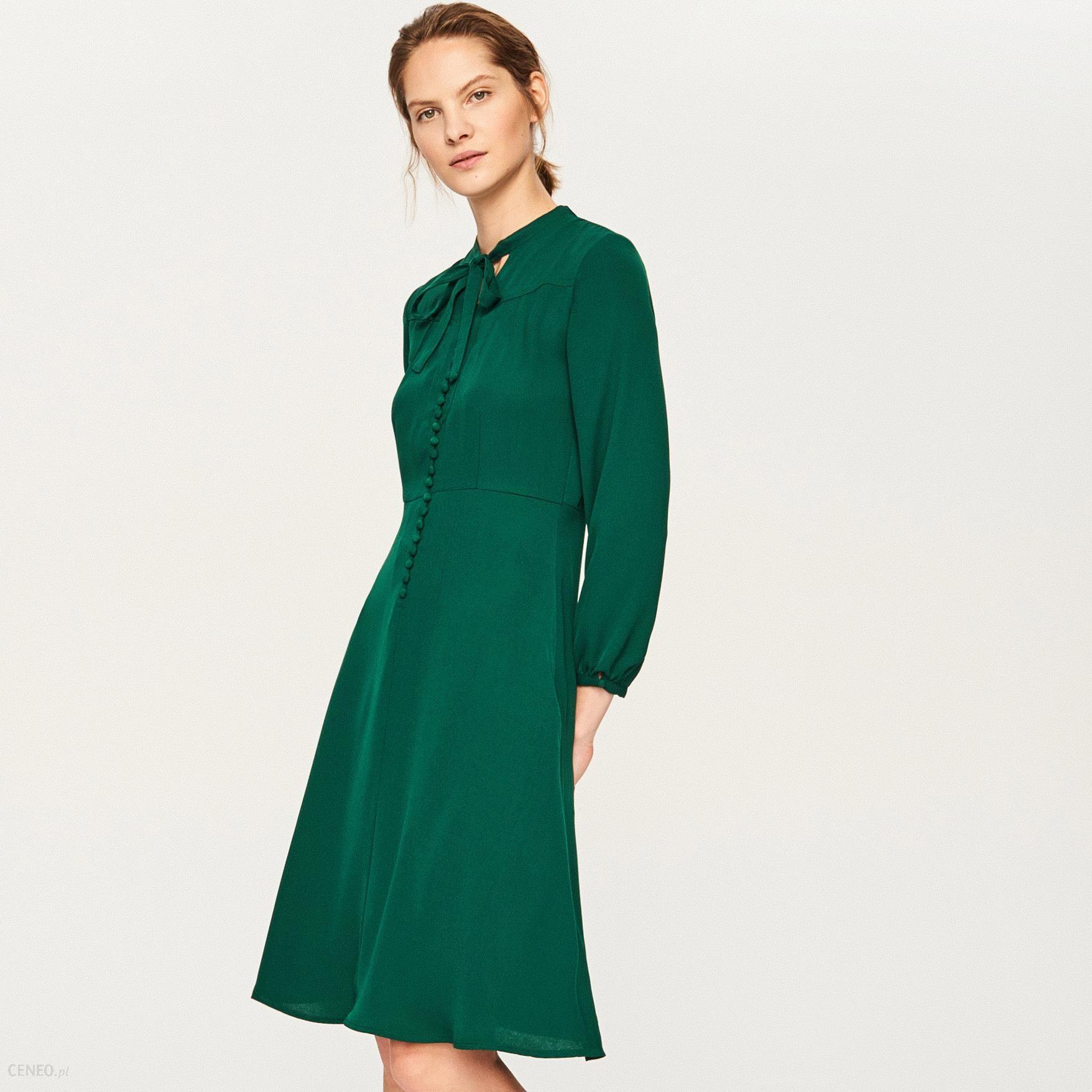 23c0e5d7bf Reserved Sukienka W Stylu Retro Zielony Ceny I Opinie Ceneopl