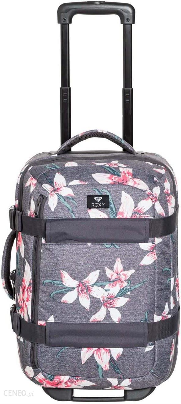 5c13deaa625b8 walizka ROXY - Wheelie 2 Charcoal Heather Flower Field (KPG6) - zdjęcie 1