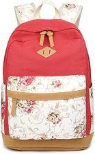 3a24998c3c3b8 Amazon Plecak szkolny plecak damski męski Canvas Vintage szkolny plecak dla  nastolatków chłopców studentów kwiaty,