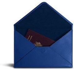 db95c12e7bef5 Amazon lucrin – średni rozmiar rosses etui na dokumenty – gładka skóra -  niebieski