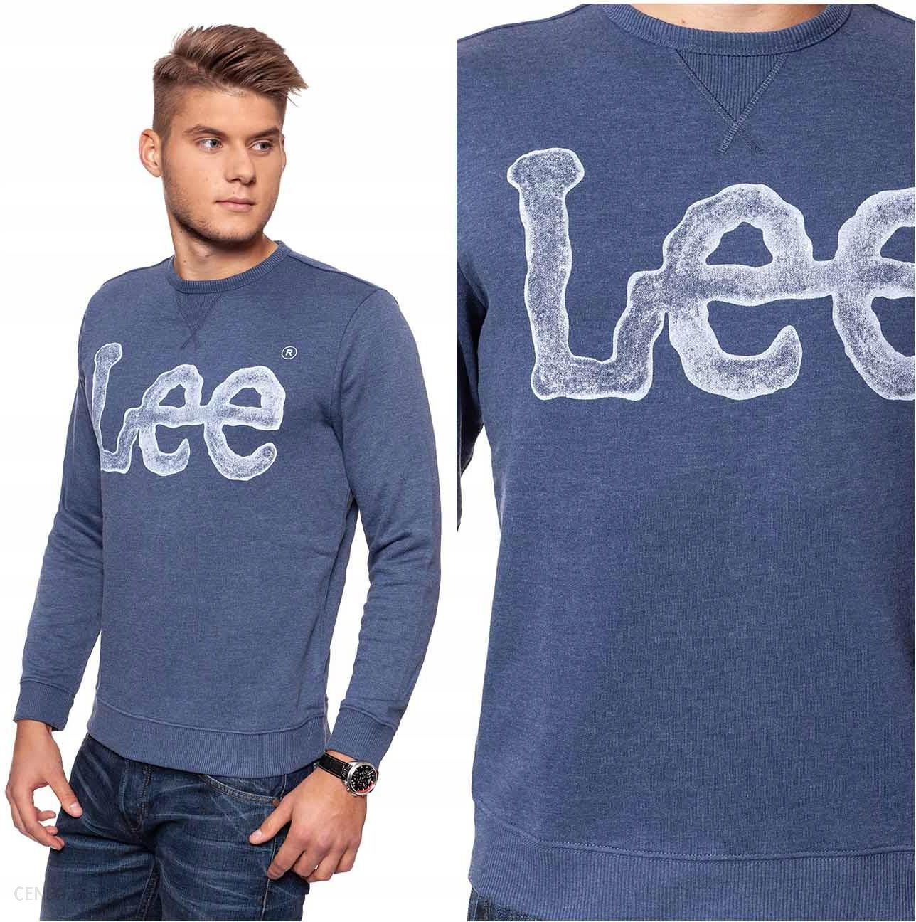 8f821163 Lee Logo Sweatshirt Bluza Męska Granatowa L - Ceny i opinie - Ceneo.pl