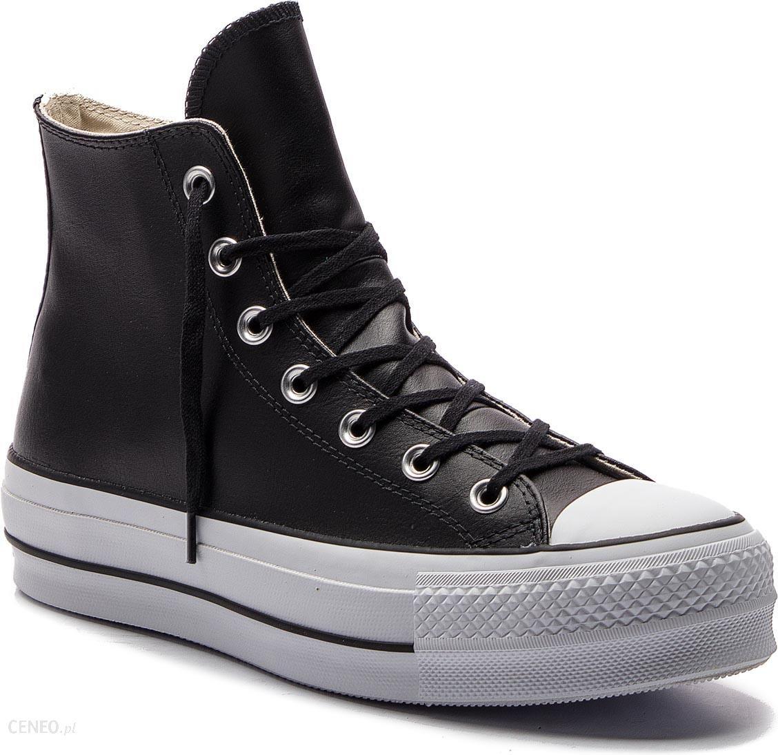 61d62d9e81ec1 Trampki CONVERSE - Ctas Lift Clean Hi 561675C Black/Black/White - zdjęcie 1