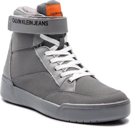 cff83ecf8d8c3 Sneakersy CALVIN KLEIN - Nigel Reflex Nylon S1773 Silver eobuwie