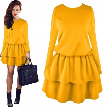 ef57af858e Kobieca rozkloszowana sukienka falbanki pik ceny i opinie jpg 412x430 Pik  p332