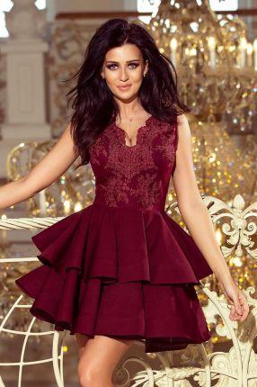 42bbb4b73a 173-3 Ekskluzywna rozkloszowana sukienka - GRANATOWY HAFT - Ceny i ...
