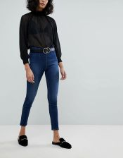 Free People Ultra High Pull On Skinny Jeans Blue Ceneo.pl