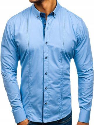 bbba87c47f4711 Koszula męska w kratę z długim rękawem bordowa Bolf 8808 - Ceny i ...
