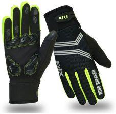 ad0b5886924 Fdx Winter Wind Breaker Gel Cycling Gloves czarny żółty