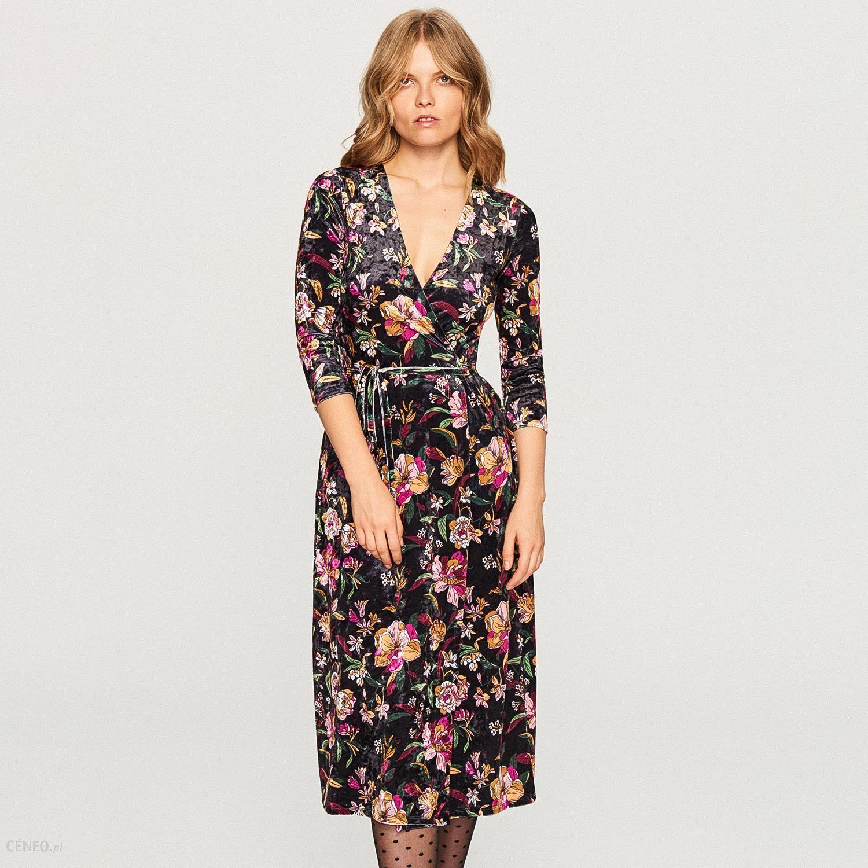 2b9c4a50e2 Reserved - Welurowa sukienka w kwiaty - Wielobarwn - Ceny i opinie ...