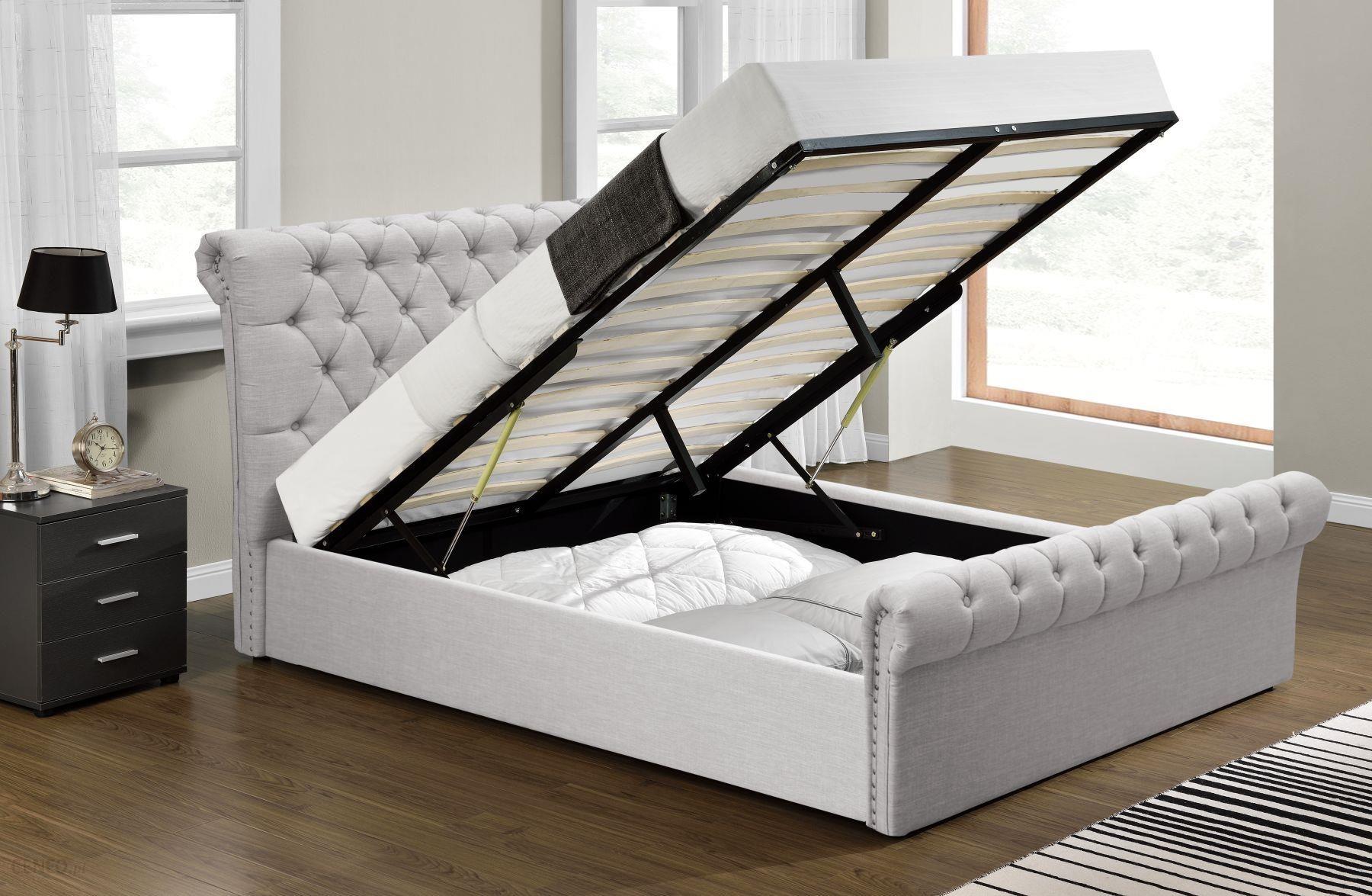 Meblemwm łóżko Tapicerowane 160x200 1298g Beż Z Materacem Opinie I Atrakcyjne Ceny Na Ceneopl