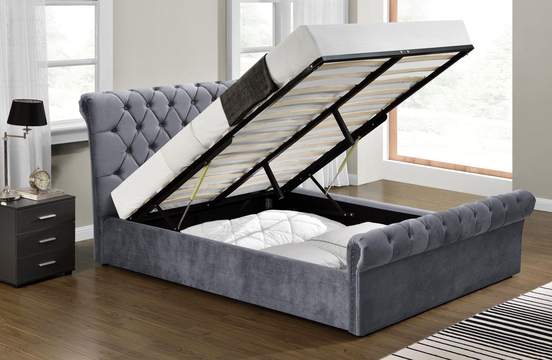 Meblemwm łóżko Tapicerowane 140x200 1298g Welur Z Materacem