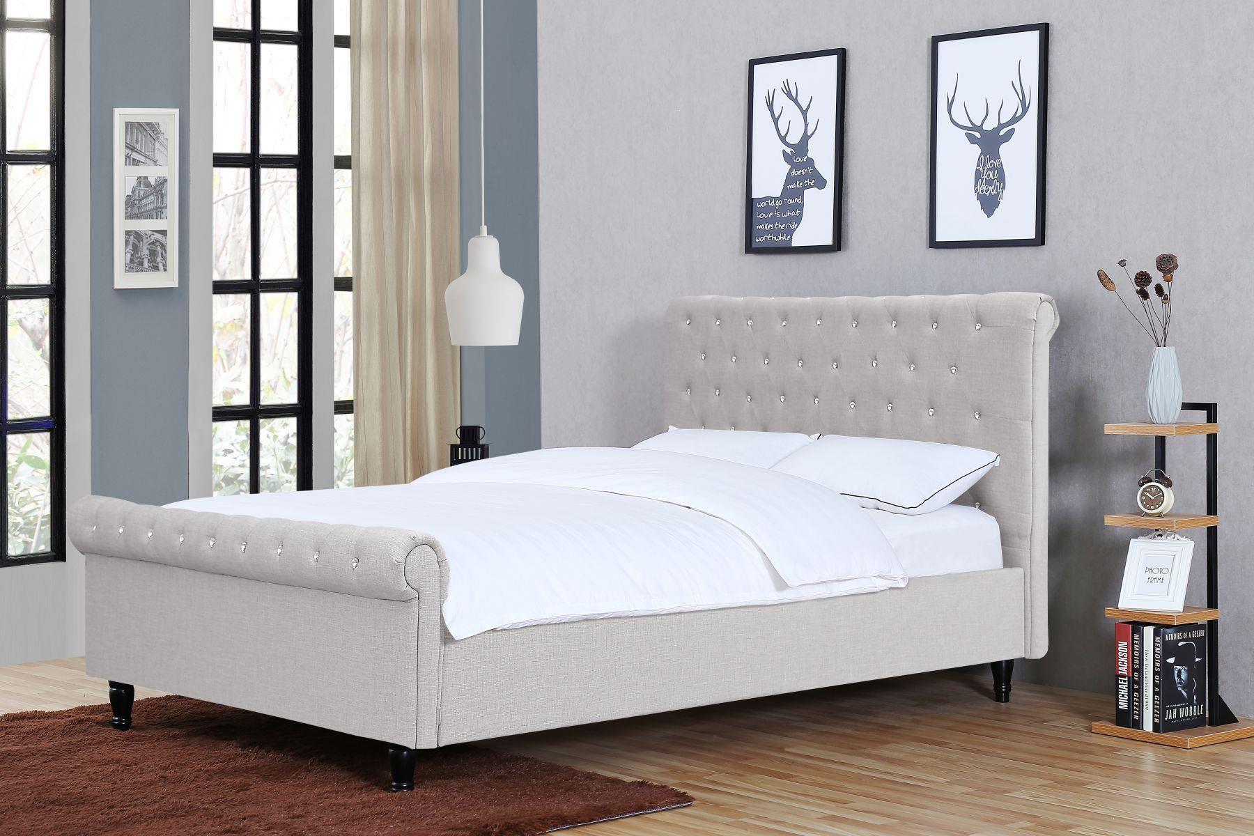 Meblemwm łóżko Tapicerowane 140x200 1130 Beż