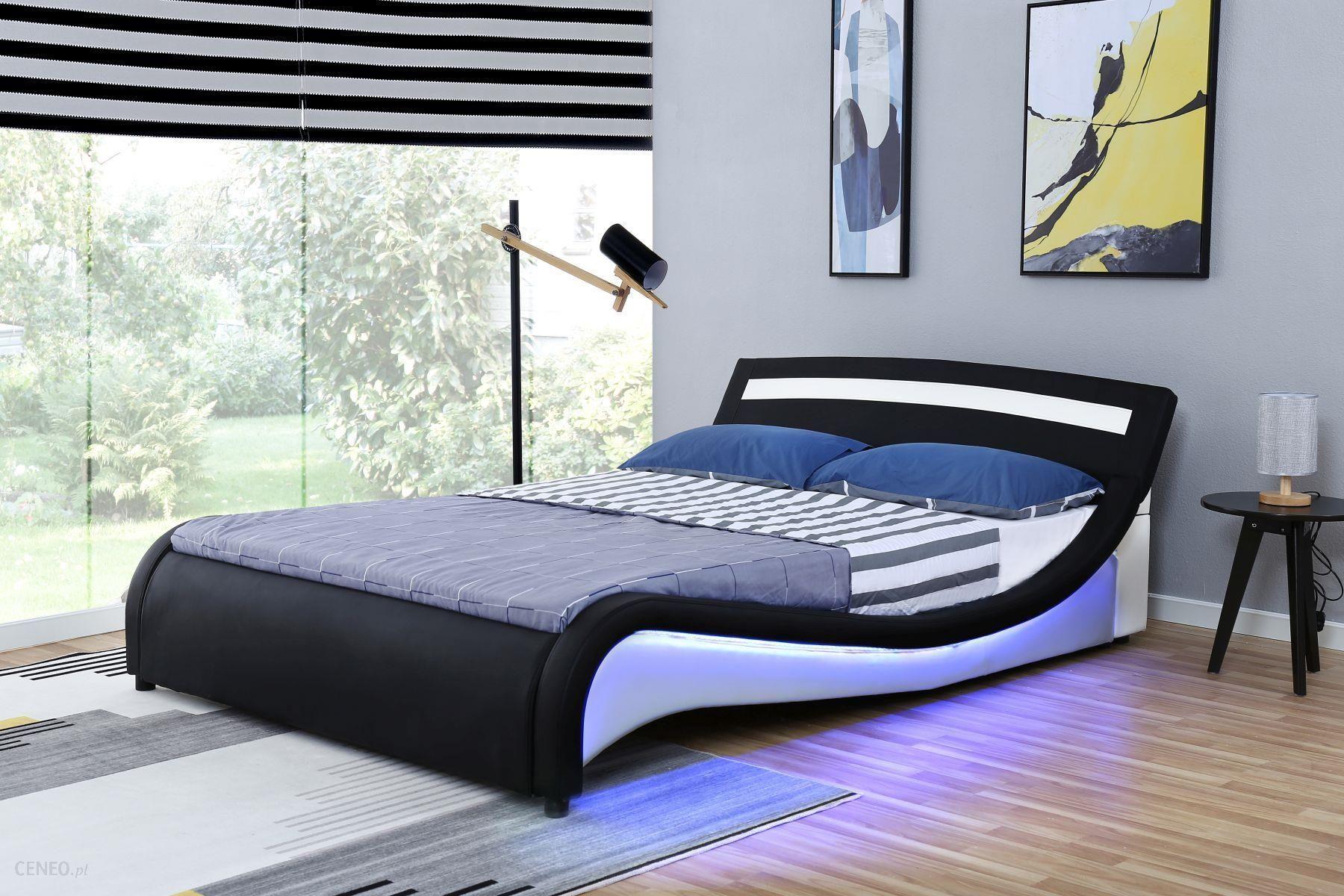 Meblemwm łóżko Tapicerowane 180x200 1188 1 2b Biało Czarne