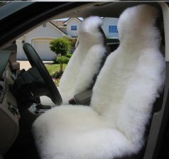 AliExpress Australijski Natural Wełniane Winter Warm Fur Samochodów Seat Cover Fit Toyota Honda Lada VW Ford Mazda Hyundai Nissan Kożuch Siedzenia pok