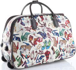 e347a1eca6184 Torba Podróżna na kółkach ze stelażem Shoes Bags More Or Mi Multikolor  Beżowa (kolory) ...