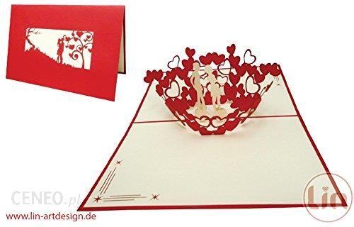 Amazon Lin Kartki Z Okazji ślubu ślub Karty Zaproszenia Valentin