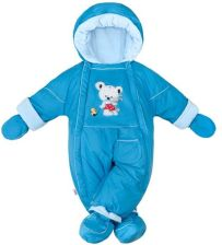 f78ed0391dd0fb Zimowy kombinezon 2w1 New Baby Winter niebieski