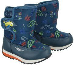 95a21176 WOJTYŁKO 2Z20228 niebieski, śniegowce dziecięce, rozmiary: 23-28 -  Niebieski. Buty zimowe ...