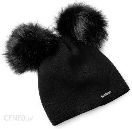 Damska czapka zimowa z dwoma pomponami 175041 PaMaMi PaMaMi