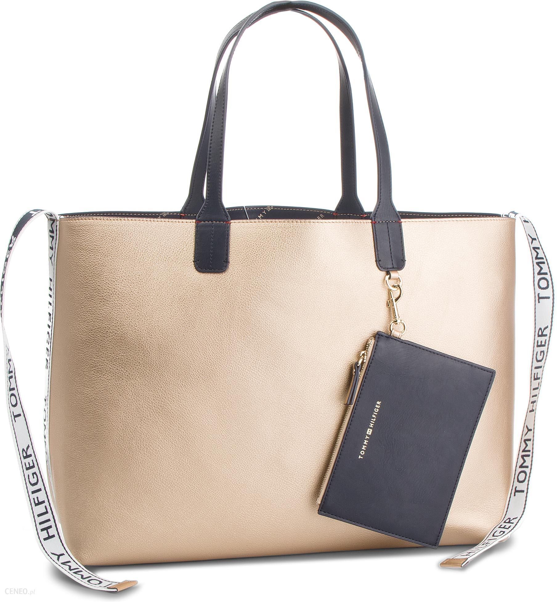 91be23db5ca7a Torebka TOMMY HILFIGER - Iconic Tommy Tote AW0AW05640 909 - Ceny i ...
