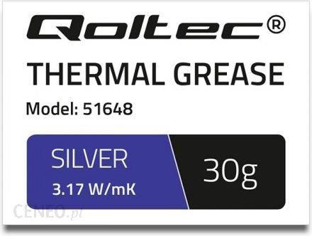 Qoltec Pasta termoprzewodząca 3.17 W/m-K 30g srebrna (51648)