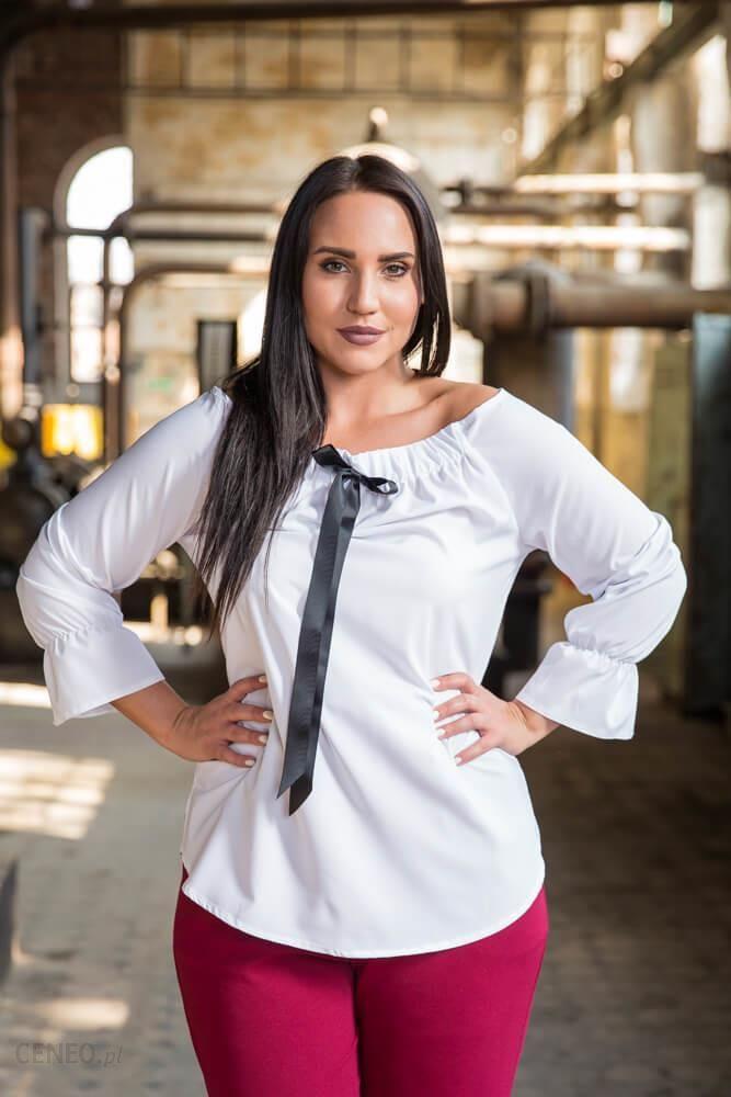 28b83361dc Biała bluzka damska KARBATA Plus Size - biały - Ceny i opinie - Ceneo.pl