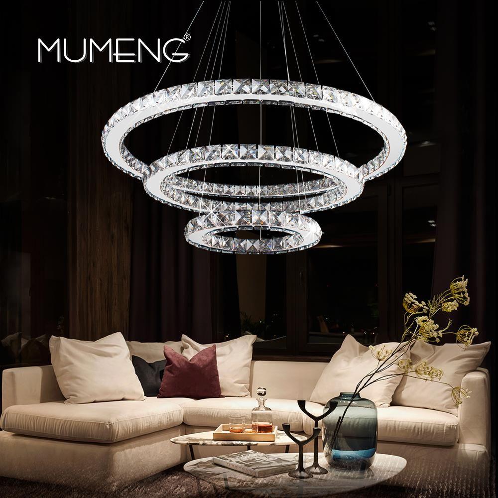 Aliexpress Mumeng Led Kryształowy żyrandol Nowoczesny Pierścień