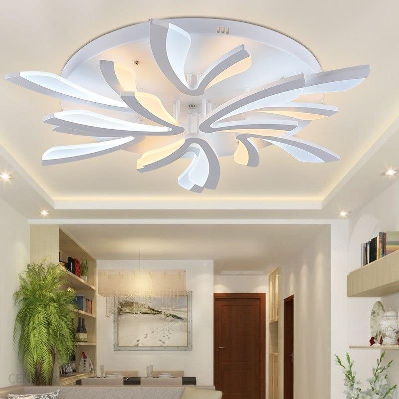 Aliexpress Nowoczesny żyrandol Oświetlenie Sufitowe Do Salonu Sypialnia Przedpokój Oświetlenie Domu Lampy Sufitowe Akrylowe światła Aluminium Ciała Do