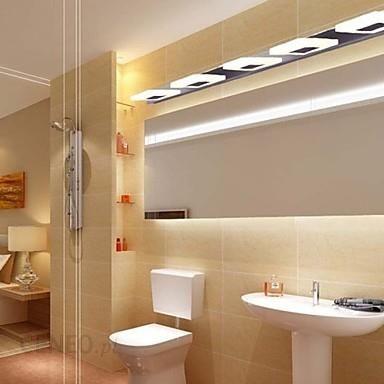 Aliexpress Proste Nowoczesny Doprowadziły Kinkiety ścienne Moda Akrylowe Lustro Lampy Kinkiety Dla Domu Oświetlenie Wewnętrzne łazienka Lampe Murale