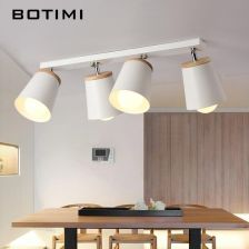 Aliexpress Botimi Nowoczesne Białe Lampy Sufitowe Dla Korytarza Regulowany Metal Lamparas De Techo Oświetlenie Korytarza E27 Kryty Drewna Ceneopl