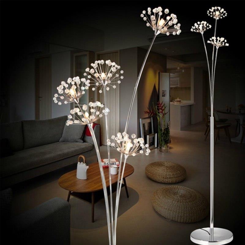 Aliexpress Nowy Kryształowe Nowoczesne Lampy Podłogowe Dla Salon