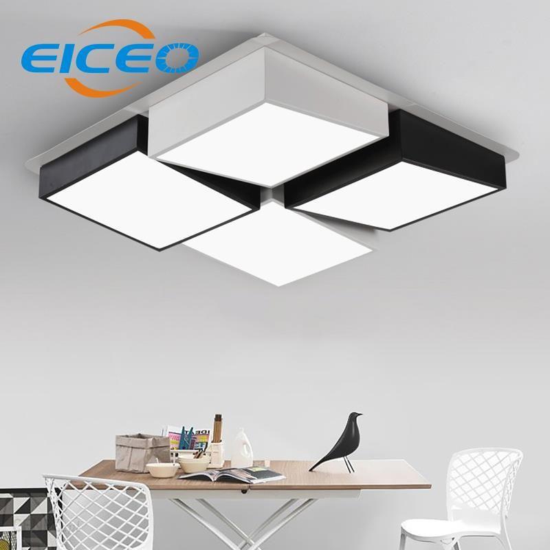 Aliexpress Eiceo Nowoczesne Minimalistyczne Lampy Led Sufitowe Oświetlenie Lampy Salon Prostokątne Sztuki Twórcze Osobowości Geometria Połączenie