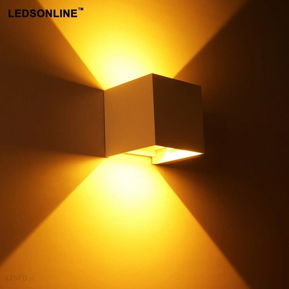 Aliexpress Nowy 120 Stopni Wodoodporna Cube Cob Led światła Lampy Nowoczesne Oświetlenie Domu Dekoracje ścienne Na Zewnątrz Kinkiet Aluminium 2x3 W Ip