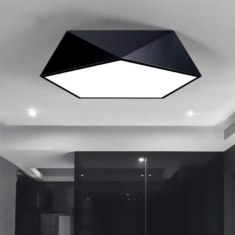 Aliexpress Nowoczesne Lampy Sufitowe Do Salonu Sypialnia Przedpokój Sufit Domu Oświetlenie Akrylowe Wielokąta Doprowadziły Wiszące Lampy światła Alumi