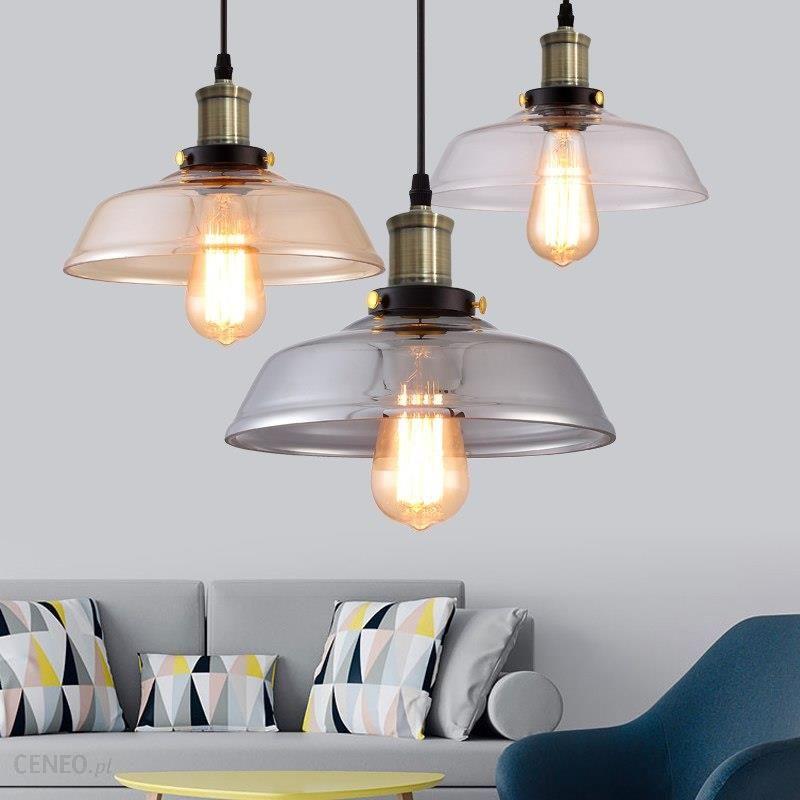AliExpress Szkło wisiorek światła jasny kolor, amber kolor, szary kolor do wyboru vintage edison szklane lampy wiszące lampy wiszące lampy 110 V 220 V