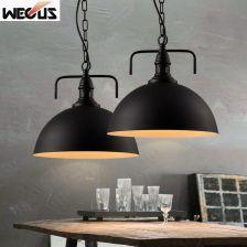 Aliexpress Loft Retro Swiatla Zelaza Pojedyncze Glowy Lampy Wiszace