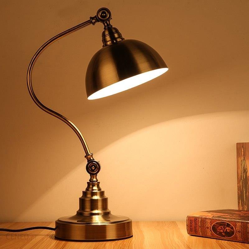Aliexpress Oświetlenie Led Lampa Robocza światło Lampy Biurko Biuro Styl Europejski Rocznik Brązu Tabeli Lampy Czytania Study Room Tabeli światła Prac