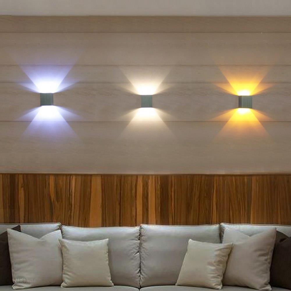 Aliexpress Nowoczesne Kinkiety Led ściana światło Lampy Z Aluminium 8 Kolory 3 W Ac85 265v Wystrój Domu Ogród Sypialnia Przedpokój Ktv Bar L