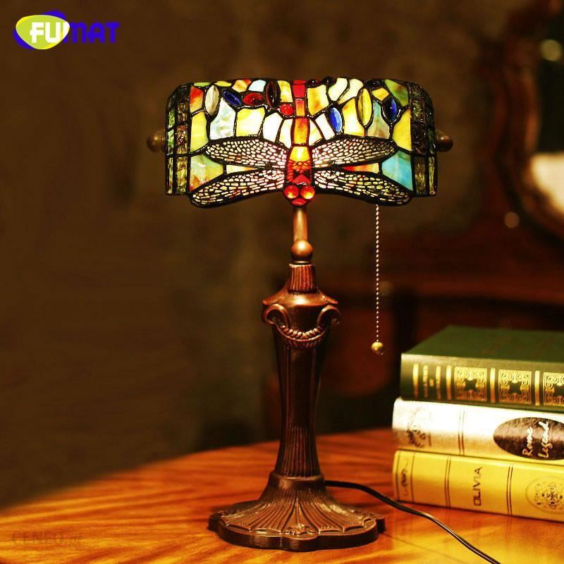 AliExpress FUMAT Witraże Lampa Stołowa Europejski Styl Dragonfly Szkła  Sztuki Tiffany Lampa Salon Hotelu Lampki Nocne 9eceb9329a6