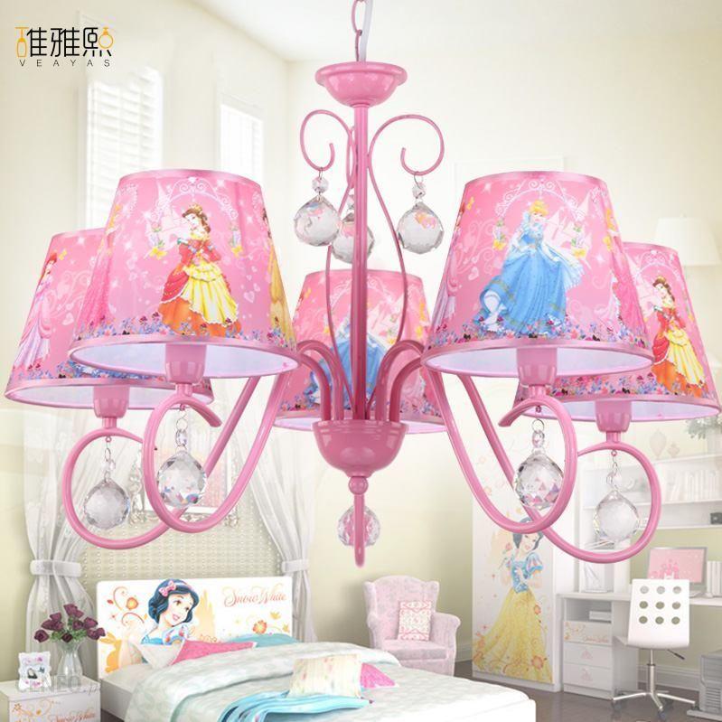 Aliexpress Boże Narodzenie światła Kreatywne Dziewczyna Różowy Oświetlenie Lampa Lampy I Oświetlenie żelaza Dla Dzieci Dzieci Dziewczyna Kryształowy ż