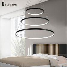 Aliexpress Nowoczesny Wisiorek światła Led Stopu Aluminium Pierścienie Doprowadziły Lampa Wisząca Dla Jadalnia Salon Sypialnia Kuchnia Pokój Oświetlen