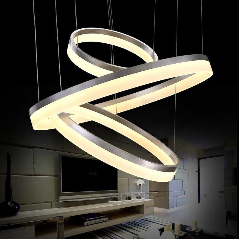 Aliexpress 40 60 80 Cm 3 Pierścienie Nowoczesne Oświetlenie Sufitowe