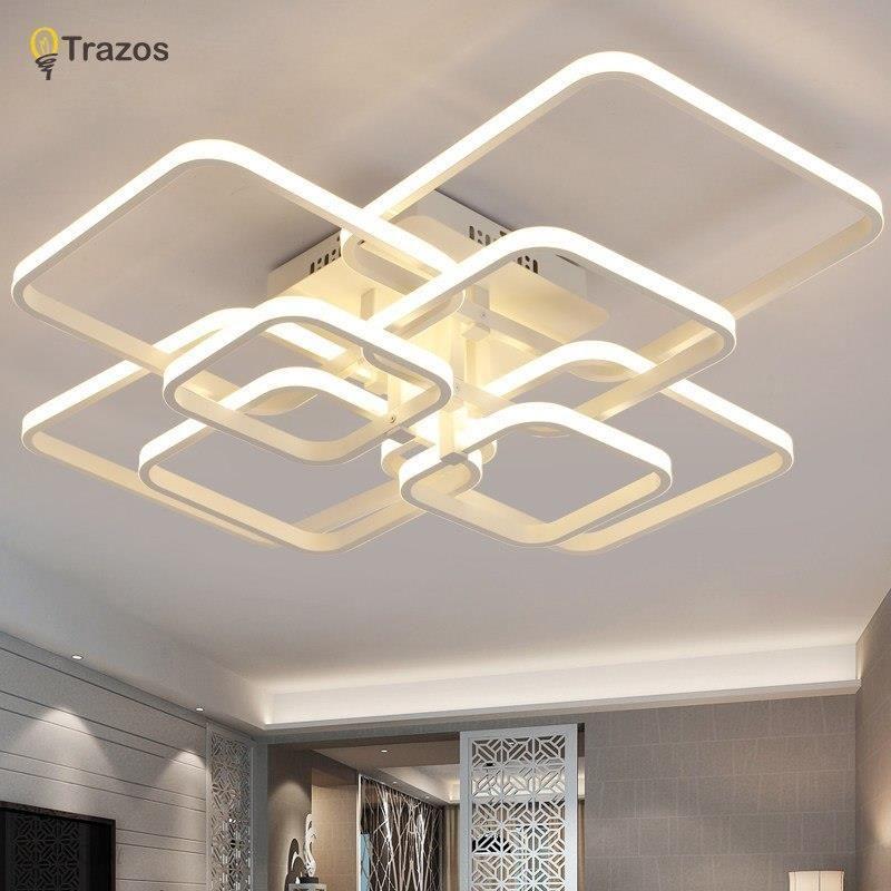 Aliexpress Trazos 2018 Prostokąt Akryl Aluminium Nowoczesne Lampy