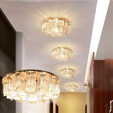 Aliexpress Laimaik 3 W 5 W Crystal Led Sufitu światła Ac90 260v Nowoczesne Lampy Kryształowe Lampy Led Korytarza światło Oświetlenie Sufitowe Led Dla