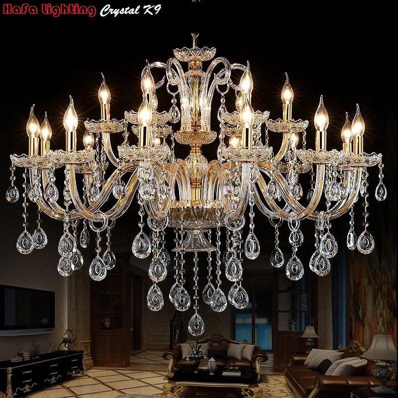 Aliexpress Nowoczesne Oświetlenie Kryształowe żyrandole Domu Dekoracji Luksusowe świeca żyrandol Nabłyszczania De Cristal Zawieszki Salon Lampa Kryty