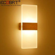 Aliexpress Ecobrt Nowoczesne 6 W Led Kinkiety Oświetlenie łazienkowe Wysokiej Jakości Aluminiowa Podstawa Akrylowe Kwadratowe Lampy ściany W Sypialni