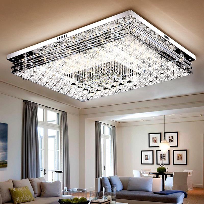 Aliexpress Lampa Led Salon Kryształowe Lampy Sufitowe Prostokąt