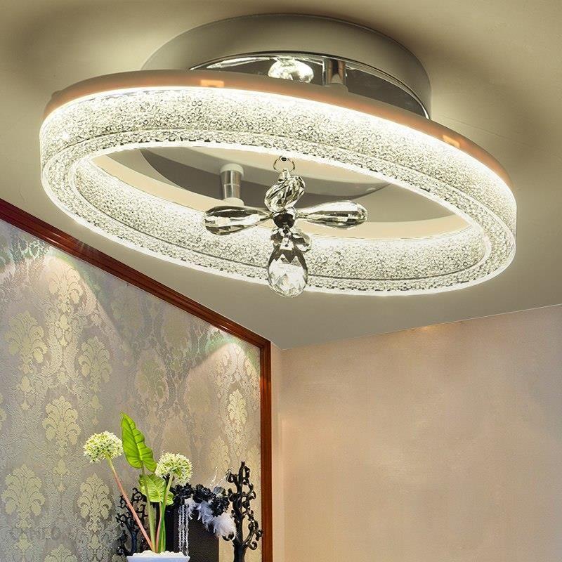 Aliexpress Nowoczesny Owalny Kryształ żelaza Doprowadziły Lampy Sufitowe Alejek Korytarz Ganek Balkon Schody Oświetlenie Lampy Do Dekoracji Wnętrz Opr