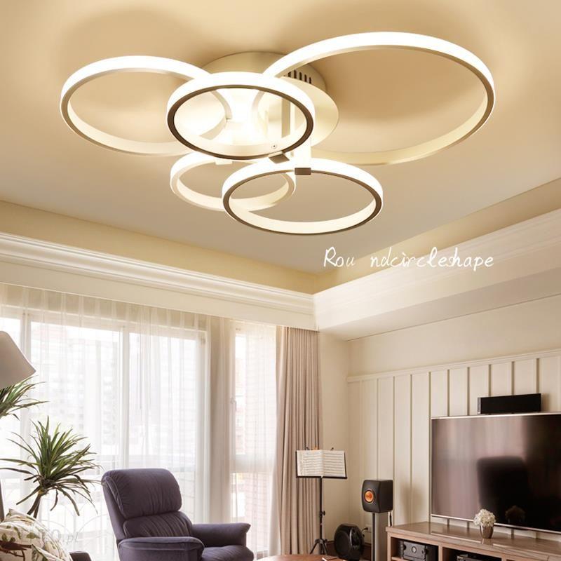 Aliexpress Nowa Konstrukcja Aluminiowa Nowoczesne Lampy Sufitowe Led Do życia Badania Sypialnia Dekoracji Lampe Plafon Avize Kryty Lampa Sufitowa