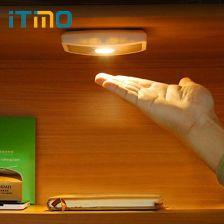 Aliexpress Itimo Lampa Led Light Night Wireless Szeroki Kąt Szafy Ciała Indukcyjne Czujnik Ruchu Kinkiet Korytarz Ganek światła Bateria Aaa Ceneopl